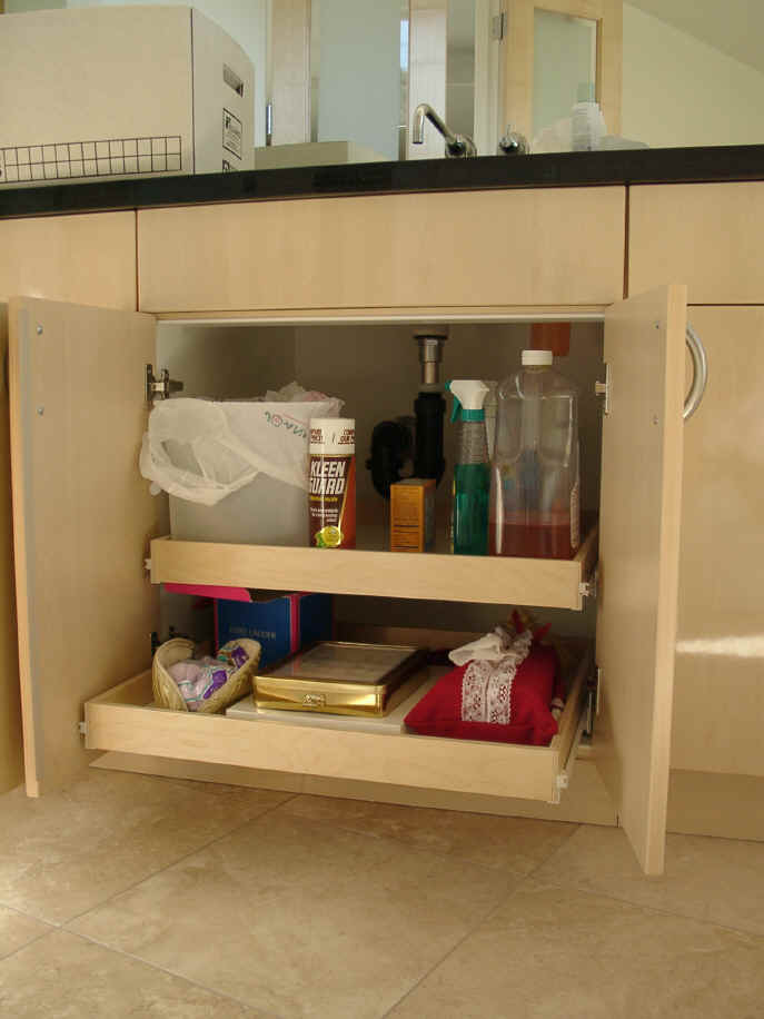 pull out shelving for bathroom cabinets storage solution. Black Bedroom Furniture Sets. Home Design Ideas