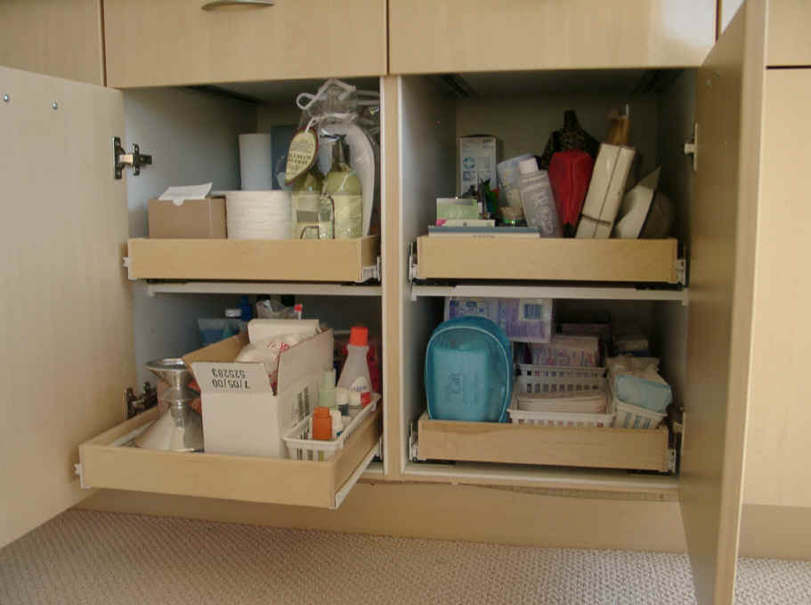 bathroom pullout shelves for your bathroom cabinets can give you that