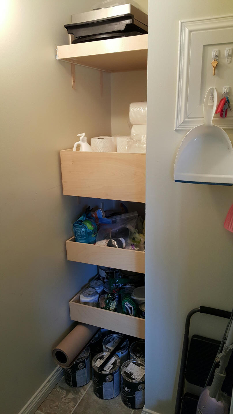 Shelves That Slide Custom Diy Kitchen Cabinet Pull Out